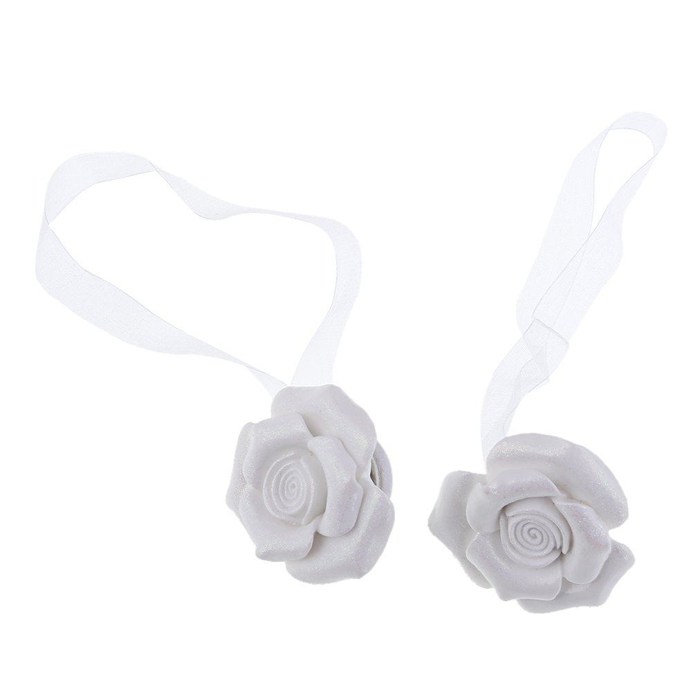 Kesheng 1 Paire Embrasses A Rideaux Magnétique Fleur Design Décoration Chambre