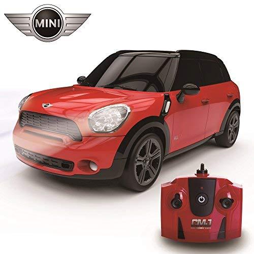 CMJ RC CarsTM Ferngesteuertes Modellauto Mini Cooper Countryman All4 S, offizielles Lizenzprodukt, für Kinder und Erwachsene, mit funktionierenden LED-Lichtern, Maßstab 1:24, RTR, EP weiß, tolles funkferngesteuertes Spielzeug für Jungen und Mädchen, 2,4-GH