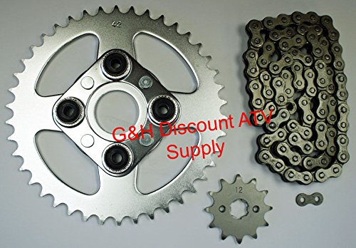520X80 Drive Chain 12T Front 42T Rear Sprockets Kit for the Honda TRX 200SX Fourtrax ()