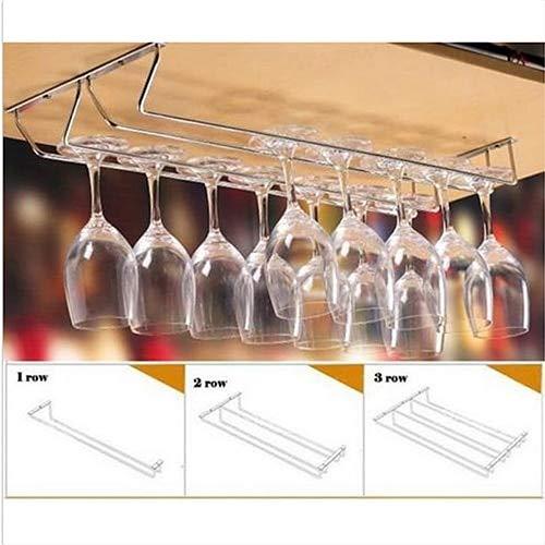 Wine Glass Rack - Stainless Steel Cabinet Wine Glass Rack Dining Bar Goblet Holder Hanger - Rack Glass Insert Wine Under Cabinet Wine Racks Holder Sunglass Glass Hanger Steel Bucket Stain (Rack Glass Insert)