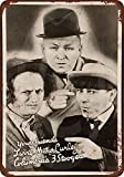 1936 Three Stooges Vintage Look Reproduction Metal Sign 8 x 12