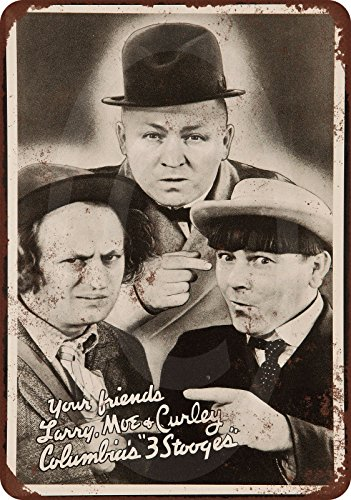 1936 Three Stooges Vintage Look Reproduction Metal Sign 8 x (Three Stooges Metal)