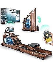 Bluefin Fitness Blade Aqua W-1 | Roeitrainer Aangedreven door Water | 100% Duurzaam Amerikaans Essenhout | Inklapbaar Fitnesstoestel Voor Thuis | LCD-Bedieningspaneel + Hartslagmeter | Kinomap-app