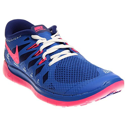 Nike Free 5.0 Blue Youths Trainers 6Y US (Rolling Shoes Nike compare prices)