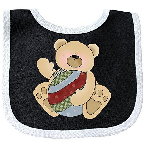 Inktastic - Christmas Bulb Teddy bear 2 Pamper Bib Black/White