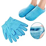 Pinkiou Soften Silicon Gloves and Socks Moisturize Cracked Skin Care Gel SPA (gloves&socks, blue) by Pinkiou