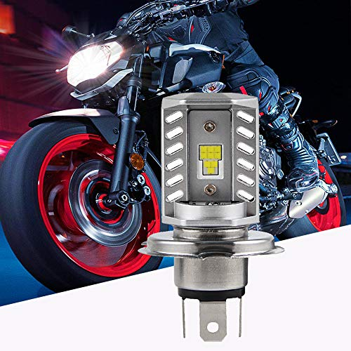 Bevinsee H4 9003 Motorcycle Headlight Bulb Hi/Lo Beam Light With CSP LED Chips 1:1 Design For Motorbike Headlight