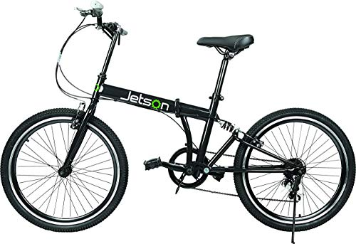 Jetson Bike-to-Go Folding Bicycle – 24″ inch Wheel, 7 Speed, Rear Hydraulic Shock Suspension, Foldable Pedals, Aluminum Alloy Bike Frame (Renewed)