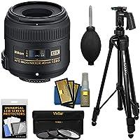 Nikon 40mm f/2.8 G DX AF-S Micro-Nikkor Lens with 3 UV/CPL/ND8 Filters + Pistol Grip Tripod + Kit for D3200, D3300, D5300, D5500, D7100, D7200 Cameras