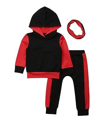 88899d77f XARAZA Baby Boys Christmas Clothes Outfits Long Sleeve Hooded Outwear  Jacket + Long Pants + Headband