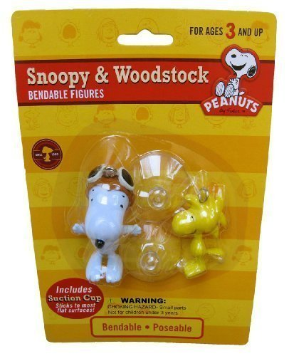 Snoopy Bendable Figure (Snoopy and Woodstock Bendable Figures with Suction Cups)