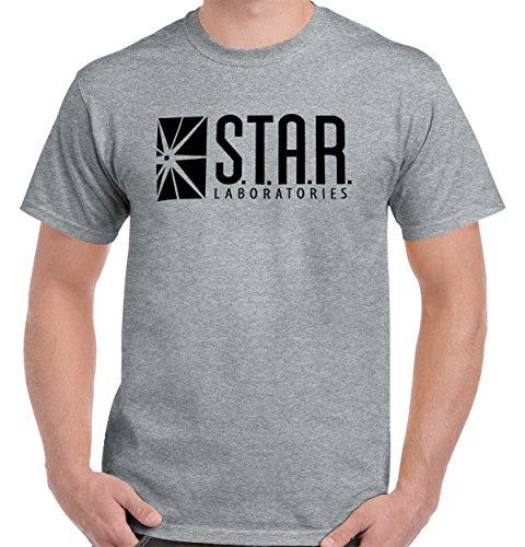 Star Labs Comic Book Superhero Nerdy Geeky T Shirt Tee Sport Grey]()