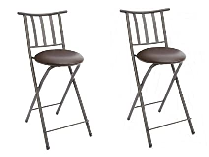Remarkable Mainstay Slat Back Folding 24 Counter Height Barstool Bronze Espresso Set Of 2 Free Furniture Cleaning Cloth Spiritservingveterans Wood Chair Design Ideas Spiritservingveteransorg