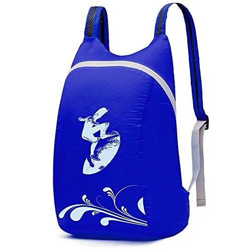 YYY-Al aire libre plegable ultraligero paquete de primavera y verano bolso casual para hombres y mujeres , dark green Blue