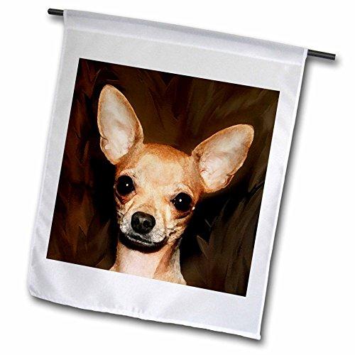 3dRose fl_4468_1 Chihuahua Portrait Garden Flag, 12 by 18-Inch