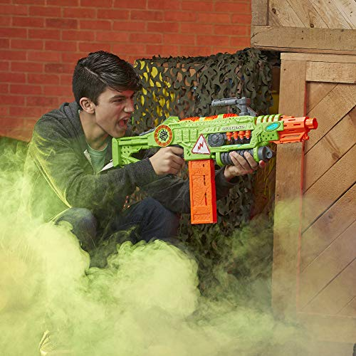 51 sqLnUseL - NERF Revoltinator Zombie Strike Toy Blaster with Motorized Lights Sounds & 18 Official Darts for Kids, Teens, & Adults