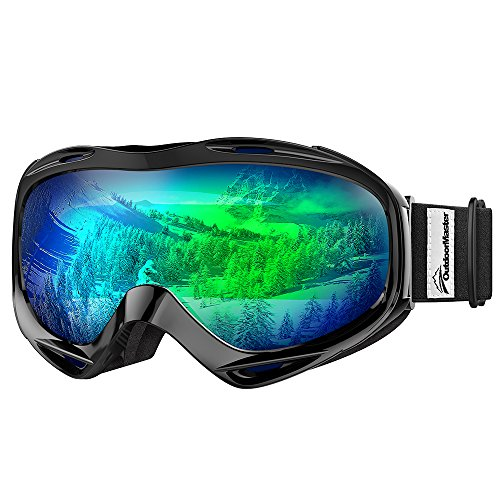 OutdoorMaster OTG Ski Goggles - Over Glasses Ski/Snowboard Goggles for Men, Women & Youth - 100% UV Protection from OutdoorMaster