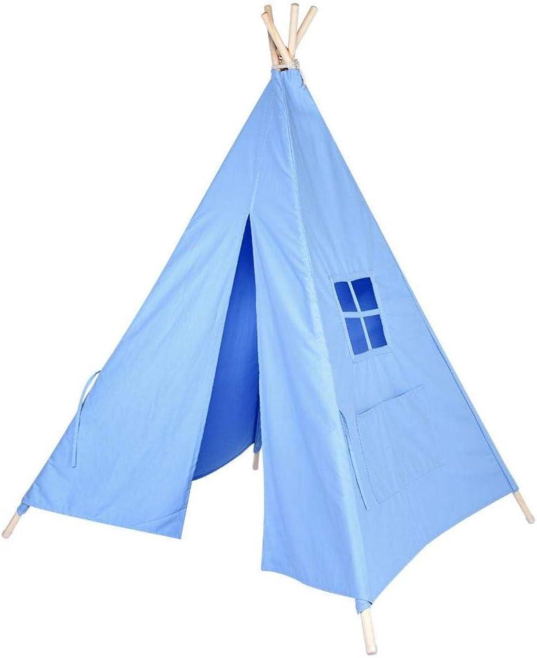 Blanc Id/éal pour Chambres denfant Salle de Jeux Salon Zoternen Tente de Jeu Tipi pour Enfant Jeu M/énage Tipi Portable Tente Tipi en 100/% Coton 143.5 * 125 * 161CM