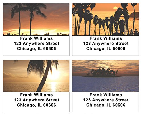Tropical Sunsets Address Labels ()