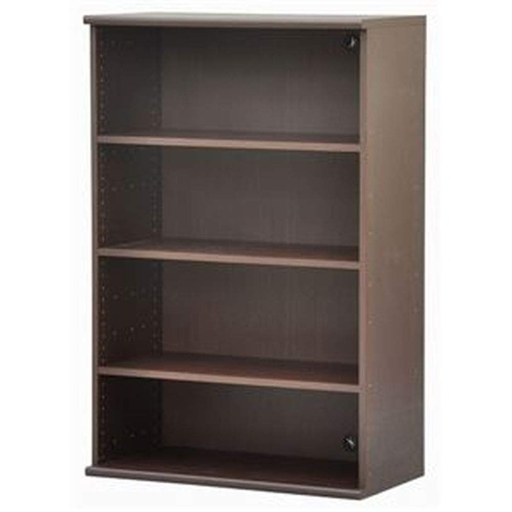 カラーボックス-収納棚/カスタマイズ家具-4段-幅78.9cm×高さ120.3cm-エイアイエス『エシカ』1280ブラウン- B07T9NX7M1