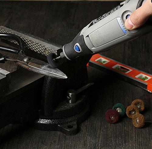 Rocaris 1'' (25mm) Black 300 Grit Abrasive Buffing Polishing Wheels Burr For Proxxon Dremel Rotary Tools-1/8''(3mm) Shank Pack of 50Pcs by Rocaris (Image #6)