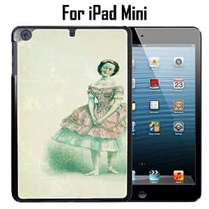 Antique Ballerina Drawing Custom Case/ Cover/Skin *NEW* Case for Apple iPad Mini - Black - Plastic Case (Ships from CA) Custom Protective Case , Design Case-ATT Verizon T-mobile Sprint ,Friendly Packaging - Slim Case