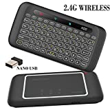 Wireless Keyboard and Mouse,Yongf H20 2.4G Gaming keyboard with Touchpad Mouse RGB Backlit Smart Remote TV Controller for Android TV Box, PC,Laptop, HTPC, IPTV, Raspberry Pi, XBOX 360, PS3, Ps4