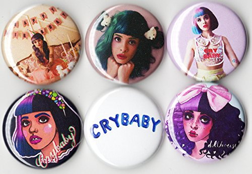 Melanie Martinez 6Pcs Button Pack   1 Inch Buttons   Pin Back Band Concert Gig Wear