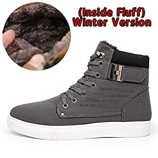 Men Shoes Front Lace-Up Casual Ankle Boots Autumn Shoes Men Wedge Fur Warm Leather Footwear,Fur Gray,7 (B07K7D9JL2) | Amazon price tracker / tracking, Amazon price history charts, Amazon price watches, Amazon price drop alerts
