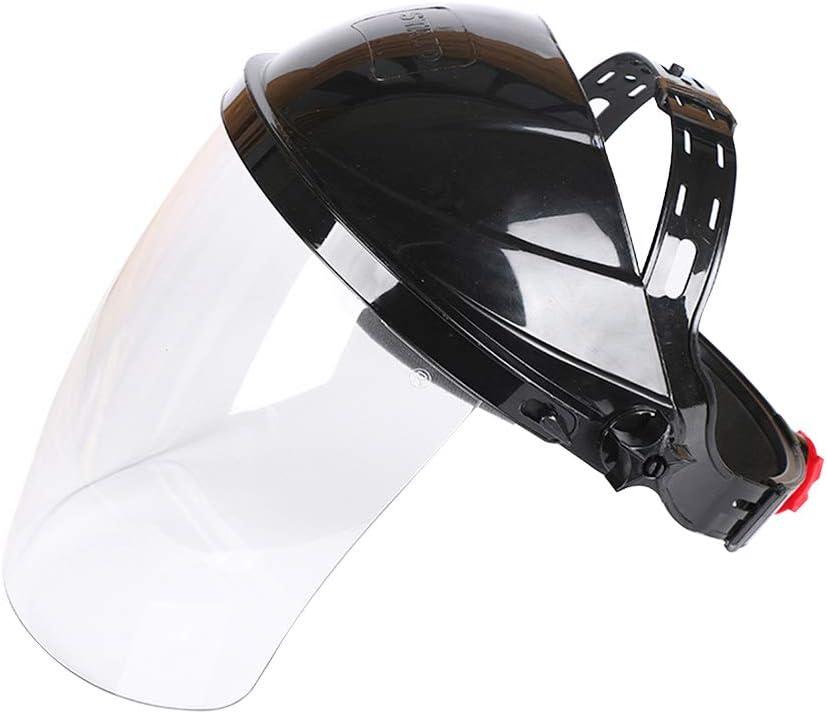 Vosarea Soldador de Cabeza Transparente montado en la Cabeza Soldadores Máscaras Anti-UV Cascos de Soldadura (Negro)