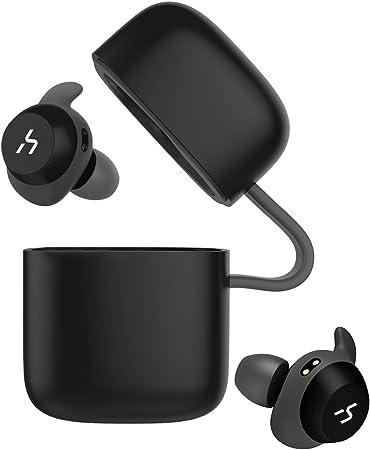 HAVIT Auricular Bluetooth V5.0 TWS Bluetooth inalámbrico, Auricular Deportivo, IPX5 Impermeable,18 Horas de reproducción, micrófono Incorporado, Adecuado para Samsung y Huawei, HTC y Otros(G1,Negro): Amazon.es: Electrónica