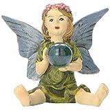 All Line Miniature Fairy Garden Girl with Crystal Ball
