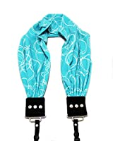 Olivia Turquoise Scarf Camera Strap; NEW; Classic & Comfortable; On-Trend Style