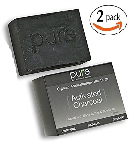 Charcoal Soap - Value Pack of 2 Handmade Soap for Face & Body. Best Gift for Men Soap Set! - Glycerin Bar Soap Value Pack