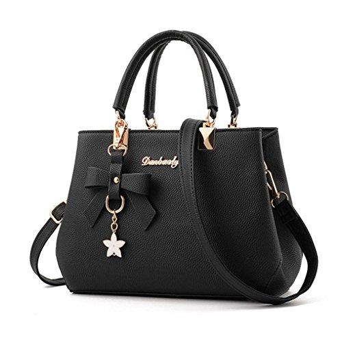 Bolayu Sexy Women Leather Handbag Shoulder Bag Messenger Satchel Shoulder Crossbody Handbags Bag (Black) by Bolayu