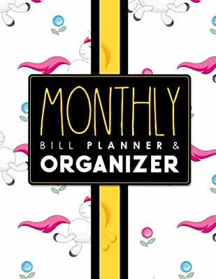 Monthly Bill Planner Organizer Bill Payment Schedule Template Monthly Bill Chart Expenditure Tracker Simple Monthly Budget Planner Cute Unicorns Cover By Publishing Rogue Plus Amazon Ae