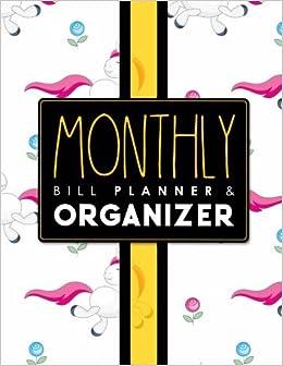 monthly bill planner organizer bill payment schedule template