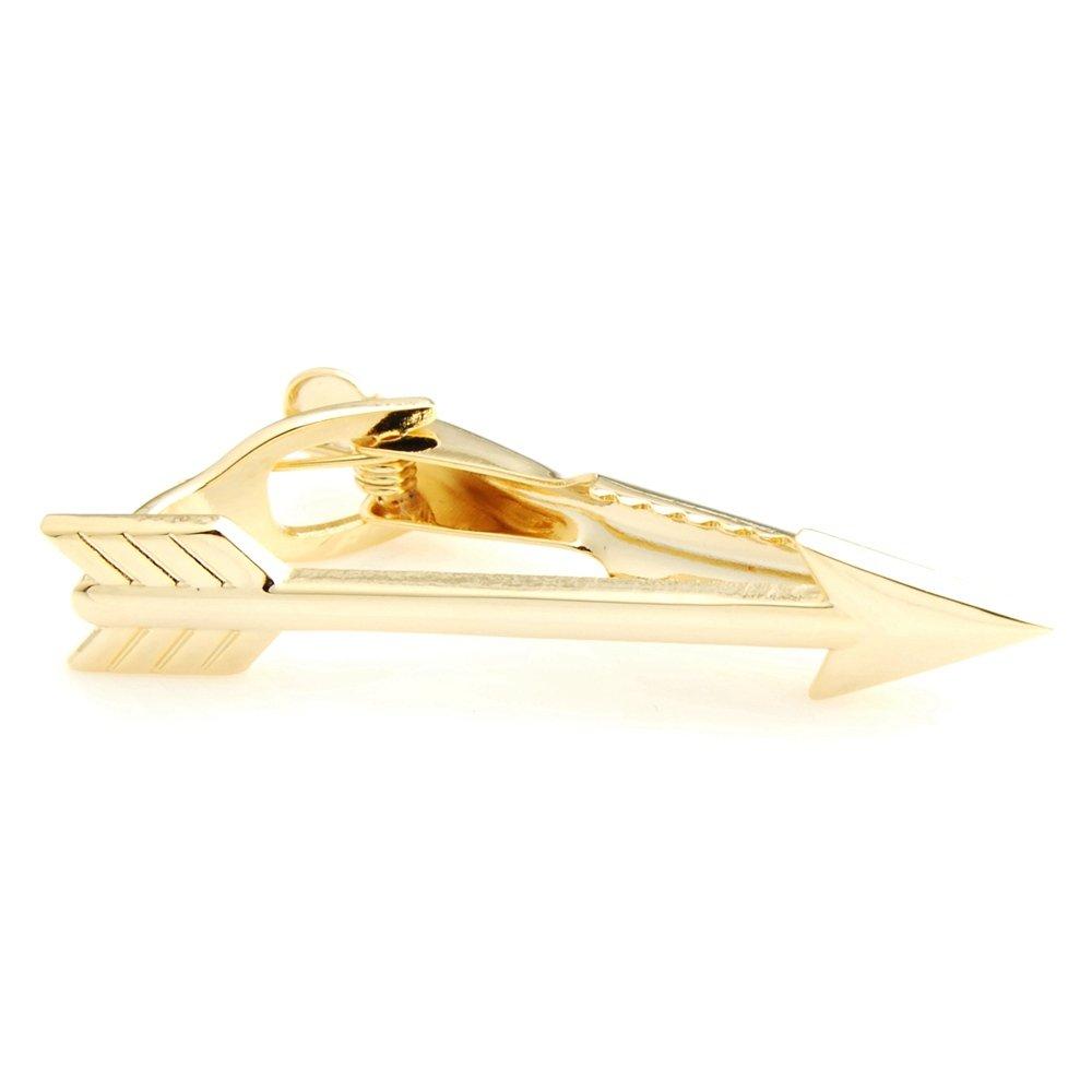 Albetro Ss Gold-Tone Arrow Tie Clip for Men