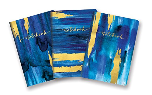 (Studio Oh! Notebook Trio with 3 Coordinating Designs Available in 12 Different Assortments, Gold Foil Sapphire)