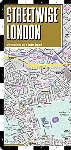 Map Of London England And Surrounding Area.Streetwise London Map Laminated City Center Street Map Of London