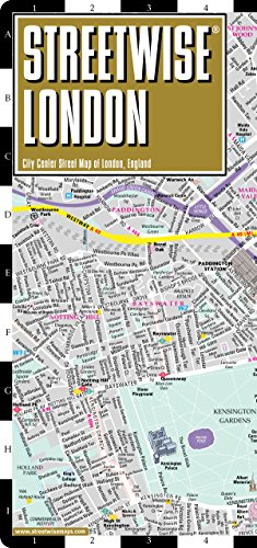 Streetwise London Map – Laminated City Center Street Map of London, England