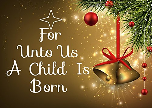 """Christmas for Unto Us a Child Is Born Wall-decal-15""""wide X 15"""" High-black or White - Buy Online ..."""