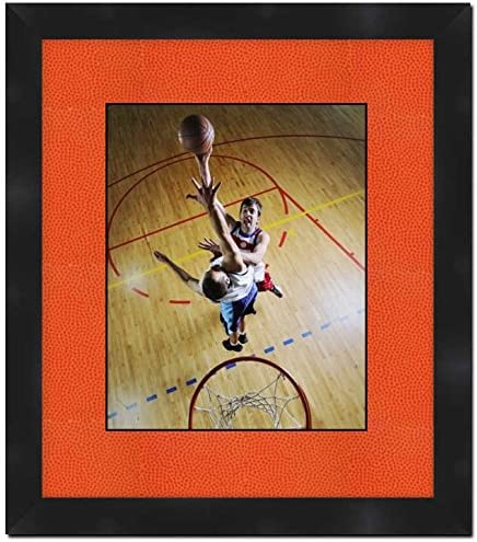 Black Frame with 5 Inch x 7 Inch Opening and Basketball Mat