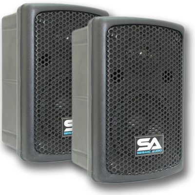 Seismic Audio - NPS-6 -  6'' Molded PA/DJ SPEAKERS Speaker System by Seismic Audio