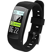 OOLIFENG Fitness Tracker, GPS Localisateur Bracelet Intelligent Cardiofréquencemètre avec Bluetooth Podomètre pour Android iOS