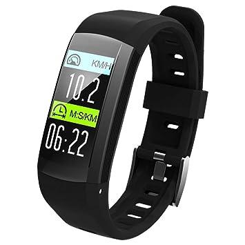 OOLIFENG Reloj Inteligente Incorporado GPS con Pulsómetros Impermeable IP68 Digital Reloj Deportivo Fitness Tracker para Deportes Al Aire Libre,Black: ...