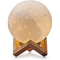 CPLA Lighting Night Light LED 3D Printing Moon Lamp, Warm...