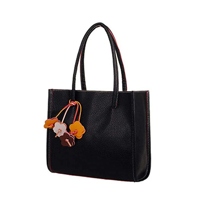 Amazon.com: - Bolso de hombro de cuero PU, con flores de ...