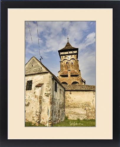 Framed Print of The german fortified church of Valea Viilor (Wurmloch) in Transsilvania, listed by Fine Art Storehouse