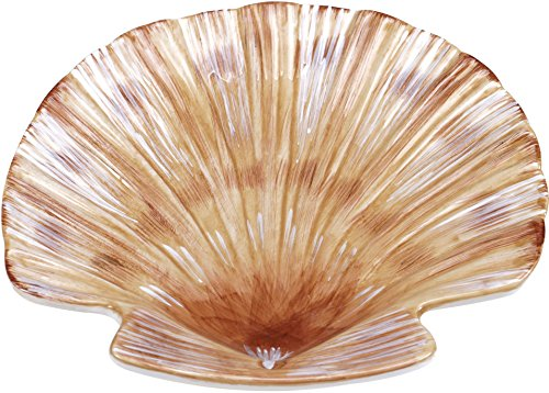 Certified International Coastal View 3-D Shell Candy Plate 8